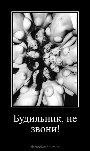Демотиватор «Будильник, не звони! »