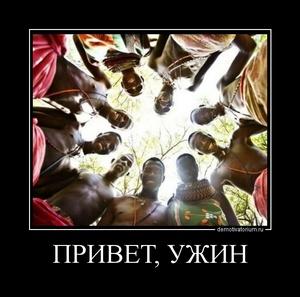 Демотиватор ПРИВЕТ, УЖИН
