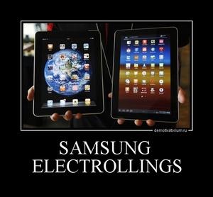 демотиватор SAMSUNG  ELECTROLLINGS
