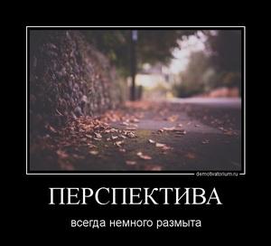 демотиватор ПЕРСПЕКТИВА всегда немного размыта - 2011-11-27