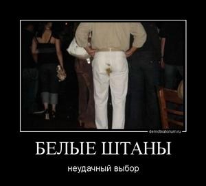 демотиватор БЕЛЫЕ ШТАНЫ неудачный выбор - 2011-11-28