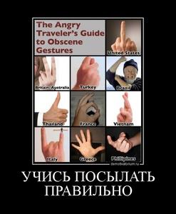 демотиватор УЧИСЬ ПОСЫЛАТЬ ПРАВИЛЬНО  - 2011-12-15