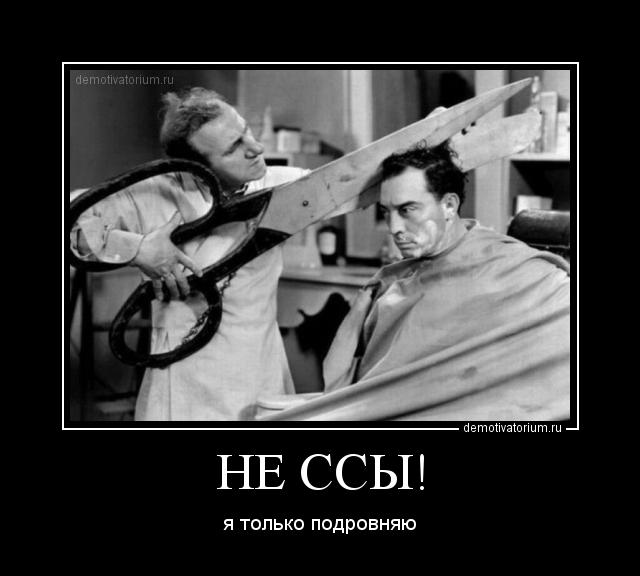 несомненно, нужно демотиваторы в парикмахерскую хоть стыдился