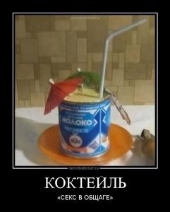 Демотиватор КОКТЕЙЛЬ «СЕКС В ОБЩАГЕ»