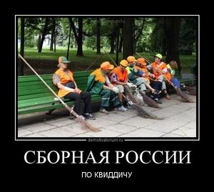 Демотиватор СБОРНАЯ РОССИИ ПО КВИДДИЧУ