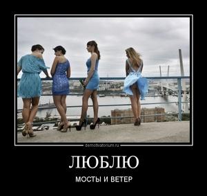 демотиватор ЛЮБЛЮ МОСТЫ И ВЕТЕР - 2012-9-08