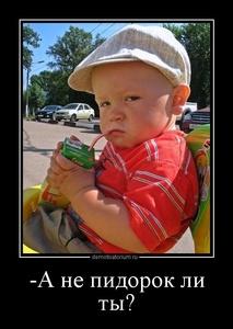 Демотиватор -А не пидорок ли ты?