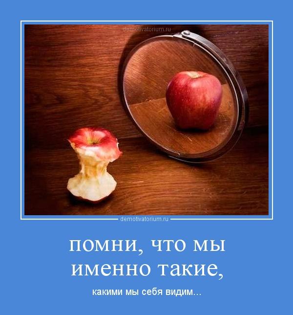 демотиватор помни, что мы именно такие, какими мы себя видим... - 2012-10-08