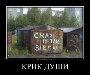 демотиватор КРИК ДУШИ