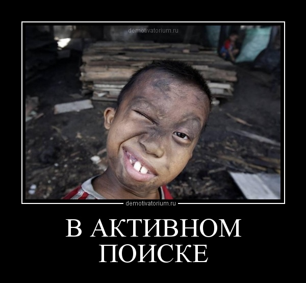 Демотиватор В АКТИВНОМ ПОИСКЕ