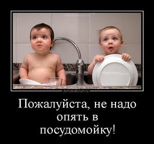 демотиватор Пожалуйста, не надо опять в посудомойку!  - 2012-11-04