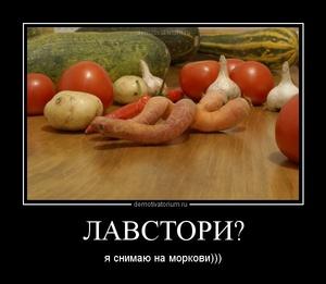 Демотиватор ЛАВСТОРИ? я снимаю на моркови)))