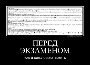 демотиватор ПЕРЕД ЭКЗАМЕНОМ КАК Я ВИЖУ СВОЮ ПАМЯТЬ - 2013-1-29
