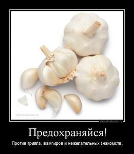 чеснок демотиватор