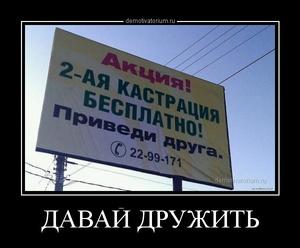 Демотиватор ДАВАЙ ДРУЖИТЬ