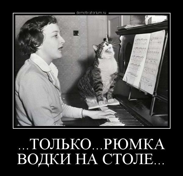 демотиватор ...ТОЛЬКО...РЮМКА ВОДКИ НА СТОЛЕ...  - 2013-4-17