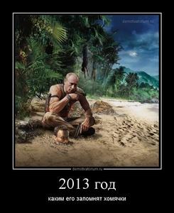 демотиватор 2013 год каким его запомнят хомячки - 2013-5-17