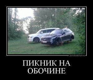 демотиватор ПИКНИК НА ОБОЧИНЕ  - 2013-5-23