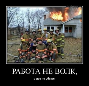 демотиватор РАБОТА НЕ ВОЛК, в лес не убежит - 2013-7-29