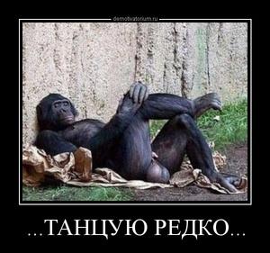 Демотиватор ...ТАНЦУЮ РЕДКО...