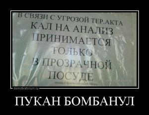 демотиватор ПУКАН БОМБАНУЛ