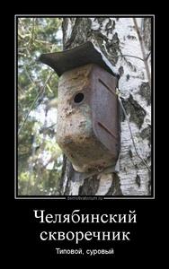 Демотиватор Челябинский скворечник Типовой, суровый