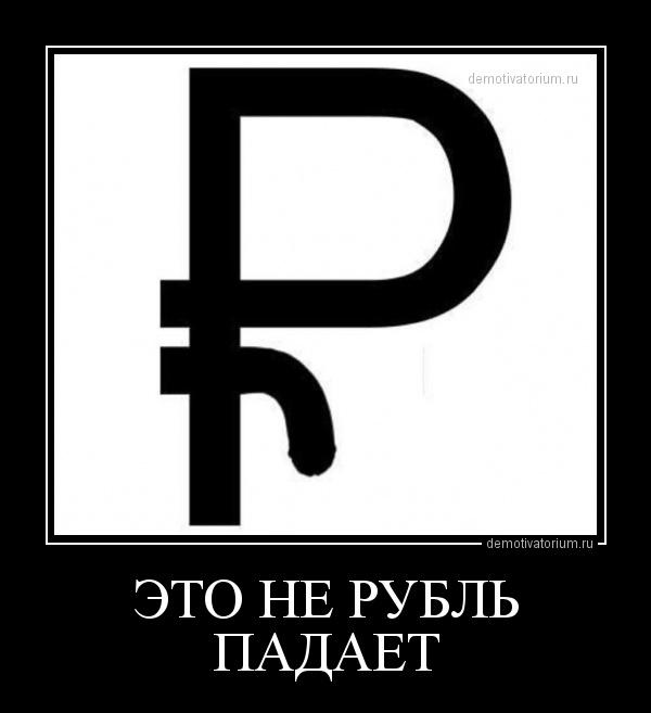 демотиватор ЭТО НЕ РУБЛЬ ПАДАЕТ  - 2014-2-01