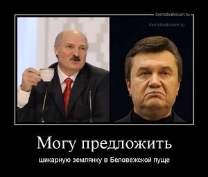 Демотиватор Могу предложить шикарную землянку в Беловежской пуще