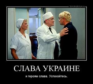 демотиватор СЛАВА УКРАИНЕ и героям слава. Успокойтесь. - 2014-2-25