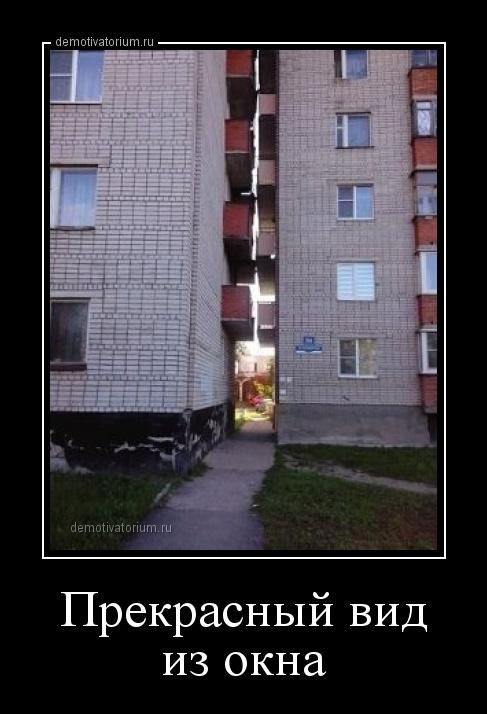 демотиватор Прекрасный вид из окна  - 2014-3-01