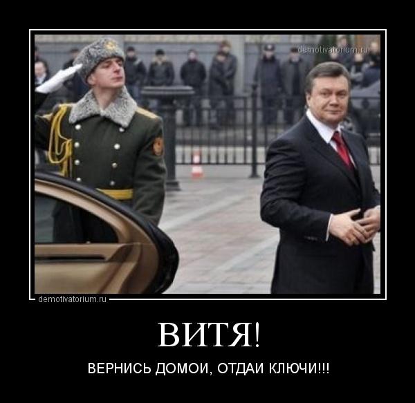 Янукович демотиваторы как вы там без меня