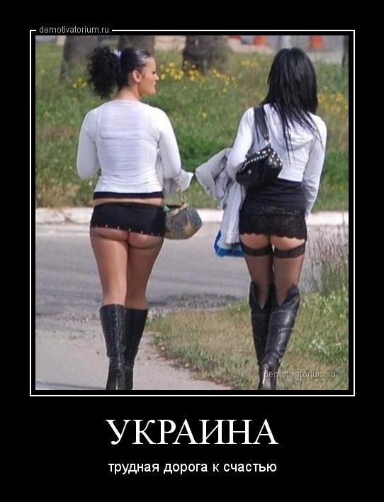 демотиватор УКРАИНА трудная дорога к счастью - 2014-3-20