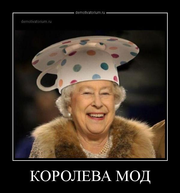демотиватор КОРОЛЕВА МОД  - 2014-4-05