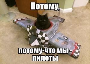 демотиватор Потому, потому-что мы - пилоты - 2014-4-20