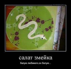 Демотиватор салат змейка балую любимого,ох балую...