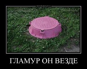 демотиватор ГЛАМУР ОН ВЕЗДЕ  - 2014-4-27
