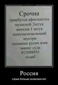 демотиватор Россия страна больших возможностей. - 2014-4-25
