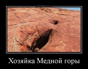 Демотиватор Хозяйка Медной горы