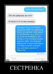 Демотиватор СЕСТРЕНКА