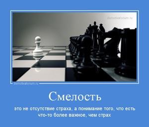 Демотиватор Смелость это не отсутствие страха, а понимание того, что есть что-то более важное, чем страх