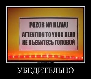 Демотиватор УБЕДИТЕЛЬНО