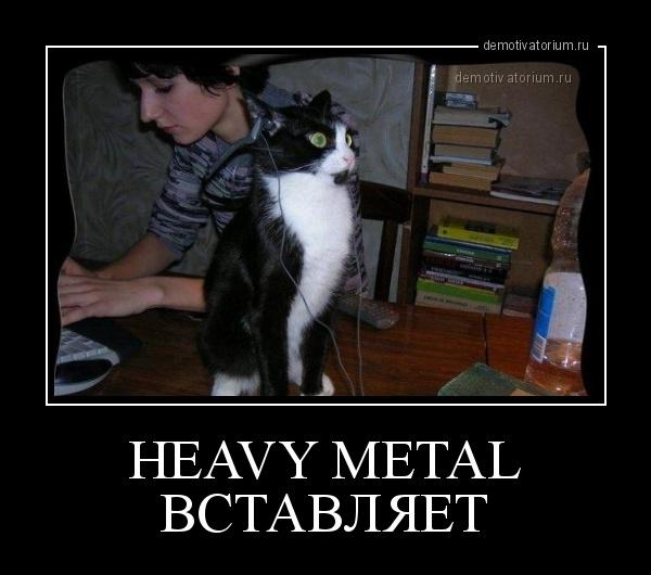 демотиватор HEAVY METAL ВСТАВЛЯЕТ  - 2014-6-29
