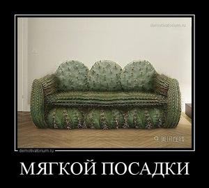 Демотиватор МЯГКОЙ ПОСАДКИ