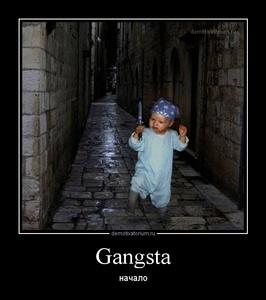 Демотиватор Gangsta начало