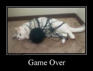 Демотиватор Game Over