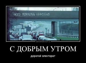 демотиватор С ДОБРЫМ УТРОМ дорогой электорат - 2014-8-10