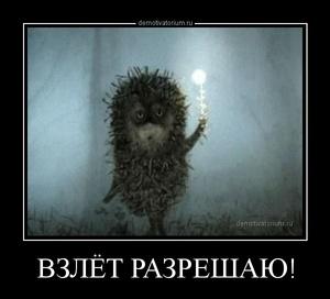 Демотиватор ВЗЛЁТ РАЗРЕШАЮ!