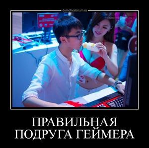 Демотиватор ПРАВИЛЬНАЯ ПОДРУГА ГЕЙМЕРА