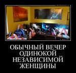 Демотиватор ОБЫЧНЫЙ ВЕЧЕР ОДИНОКОЙ НЕЗАВИСИМОЙ ЖЕНЩИНЫ  - 2014-11-28