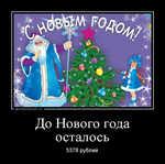 Демотиватор До Нового года осталось 5378 рублей